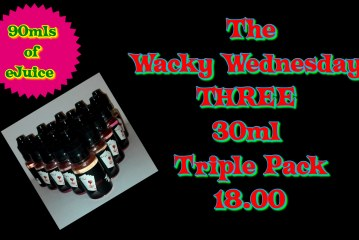 Ace eJuice Wacky Wednesday Three 30ml Triple Pack