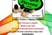 15% OFF E juice Orders Plus $5 30ml Featured Flavors